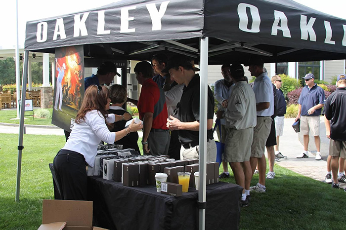 Foundation Cup Oakley tent